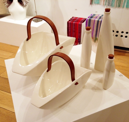 Cream Trugs and Bottles